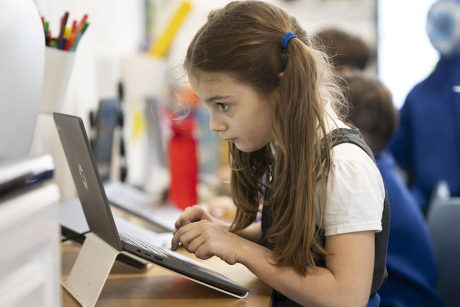 Child at laptop