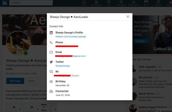 How to find business email address from linkedin