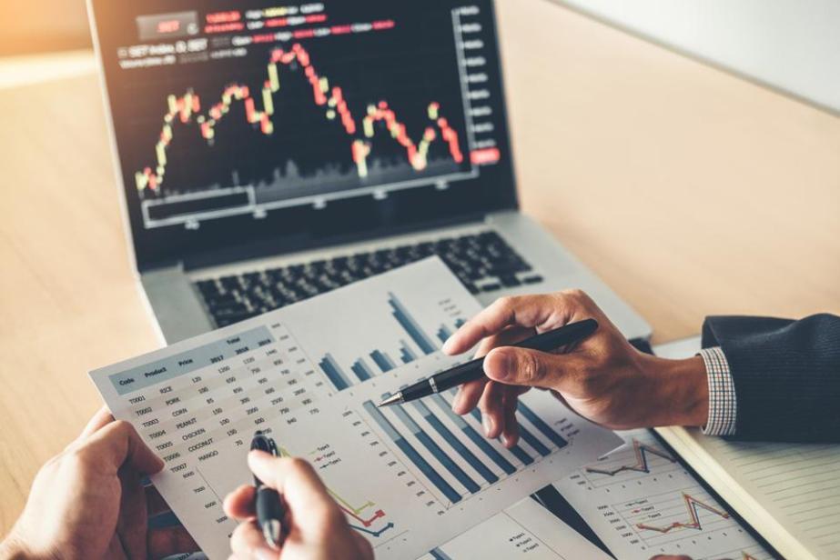 Business team analyzing financial data