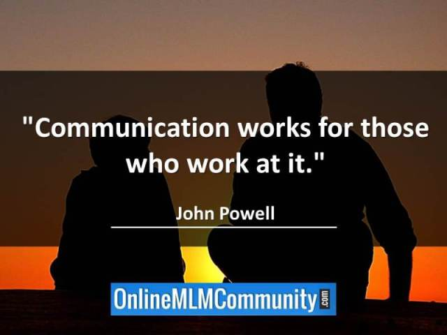 how to communicate with your mlm team - communication works