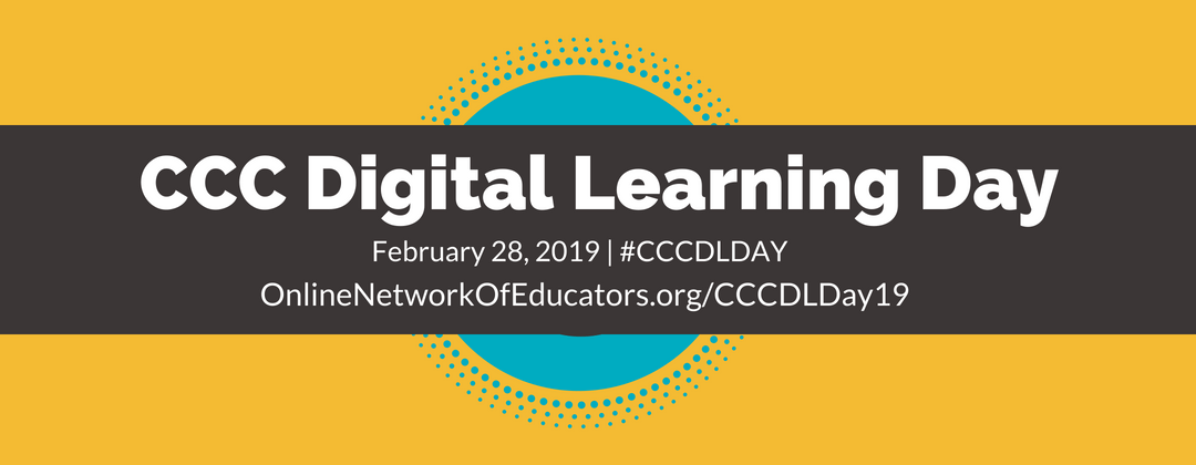 CCC Digital Learning Day 2019 Header Graphic