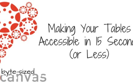 Making your tables accessible in 15 seconds or less