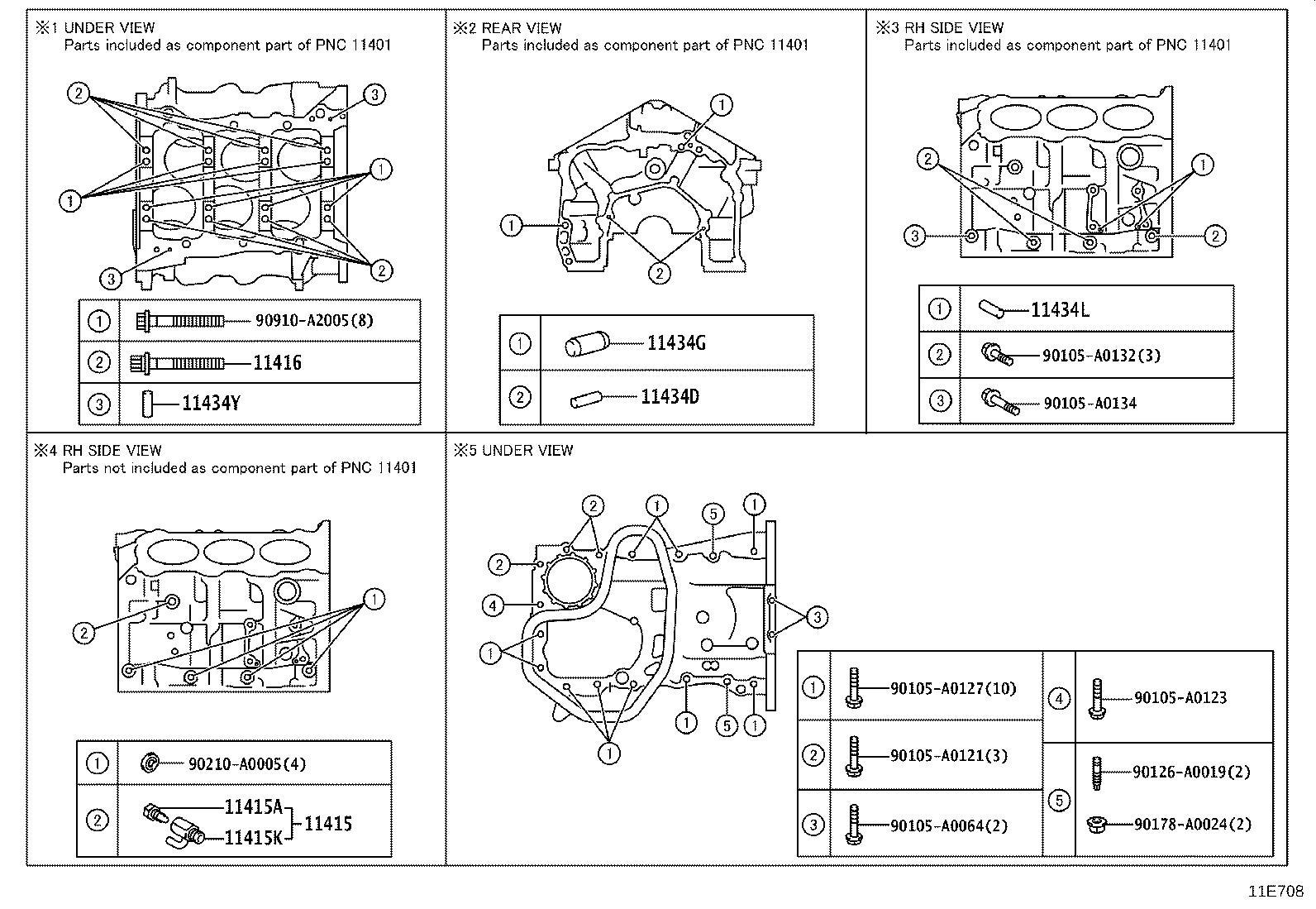 Toyota Highlander Pin Ring For Timing Belt Idler Bracket