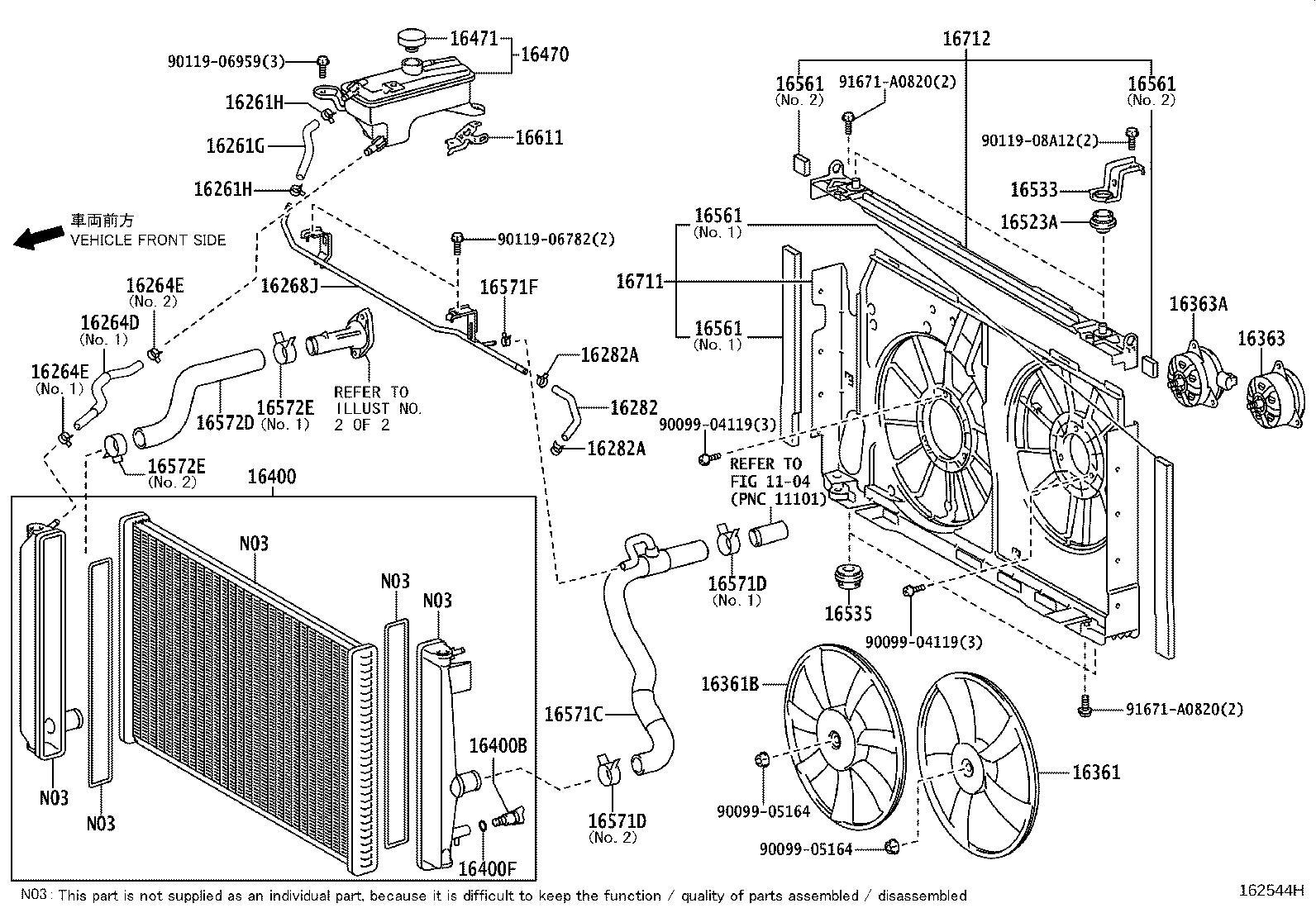 Toyota Rav4 Radiator Coolant Hose Engine Cooling