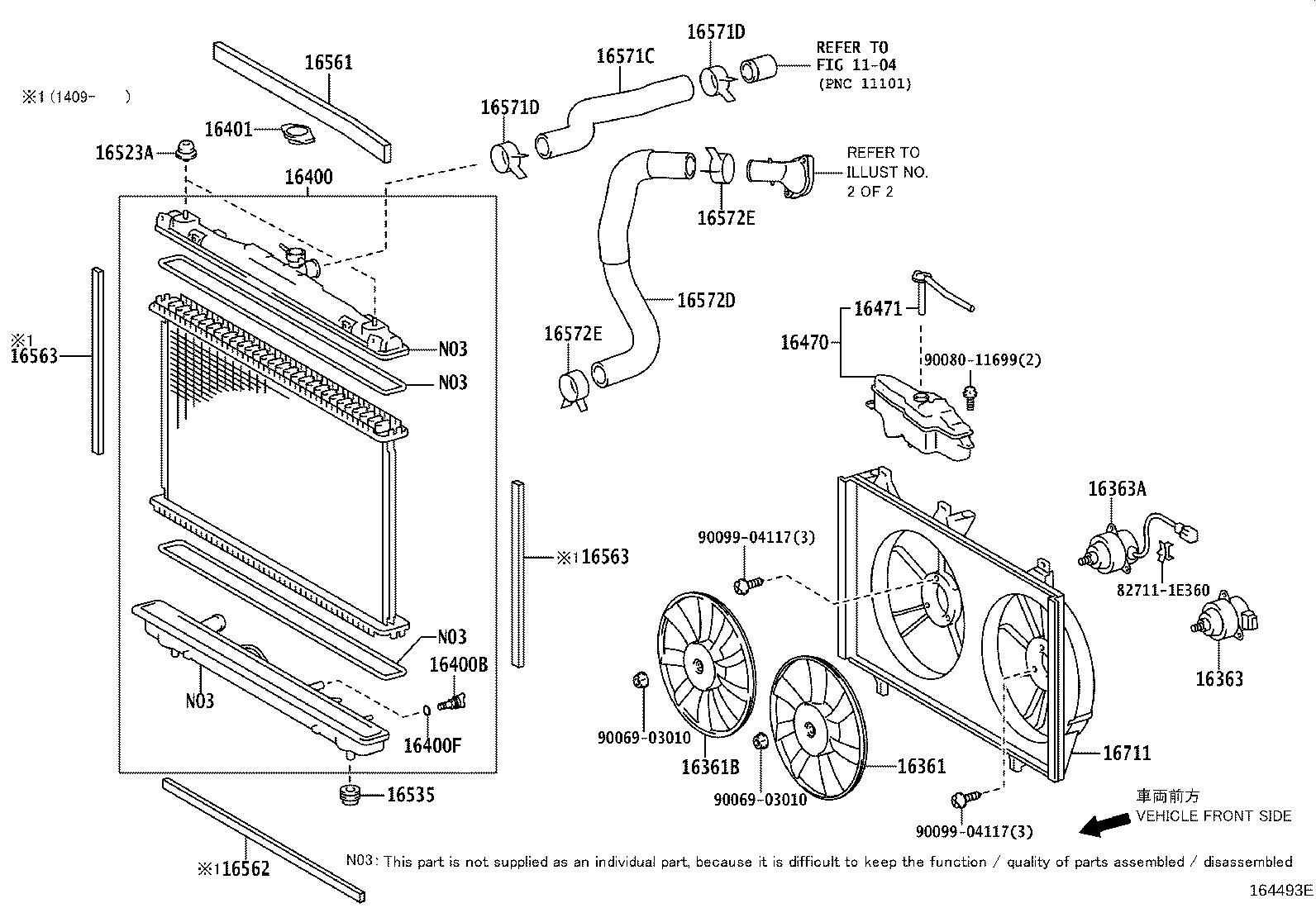 Toyota Camry Housing Water Inlet Ffv Exh