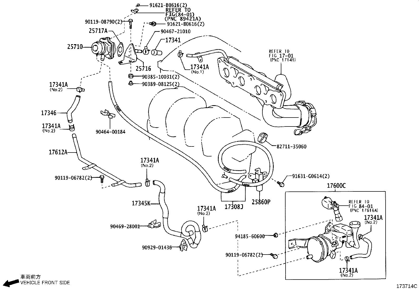 Toyota Matrix Secondary Air Injection Pump Check Valve