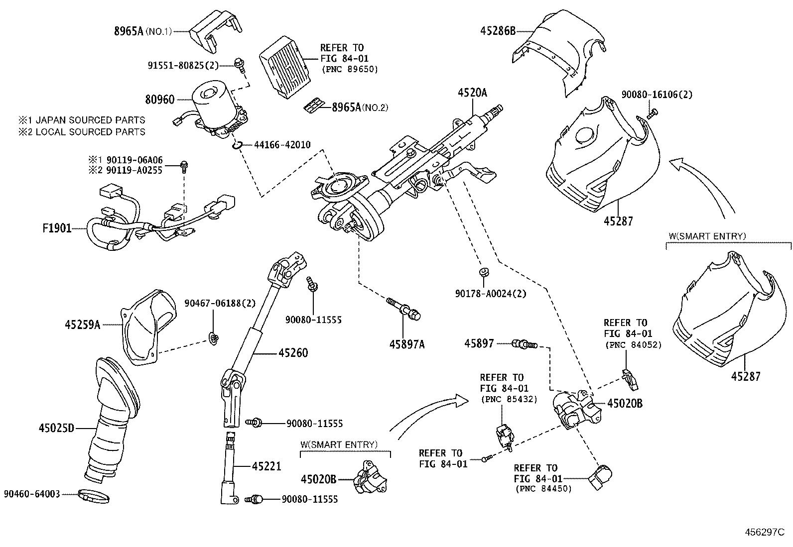 Toyota Rav4 Steering Column Cnd Brakes Suspension