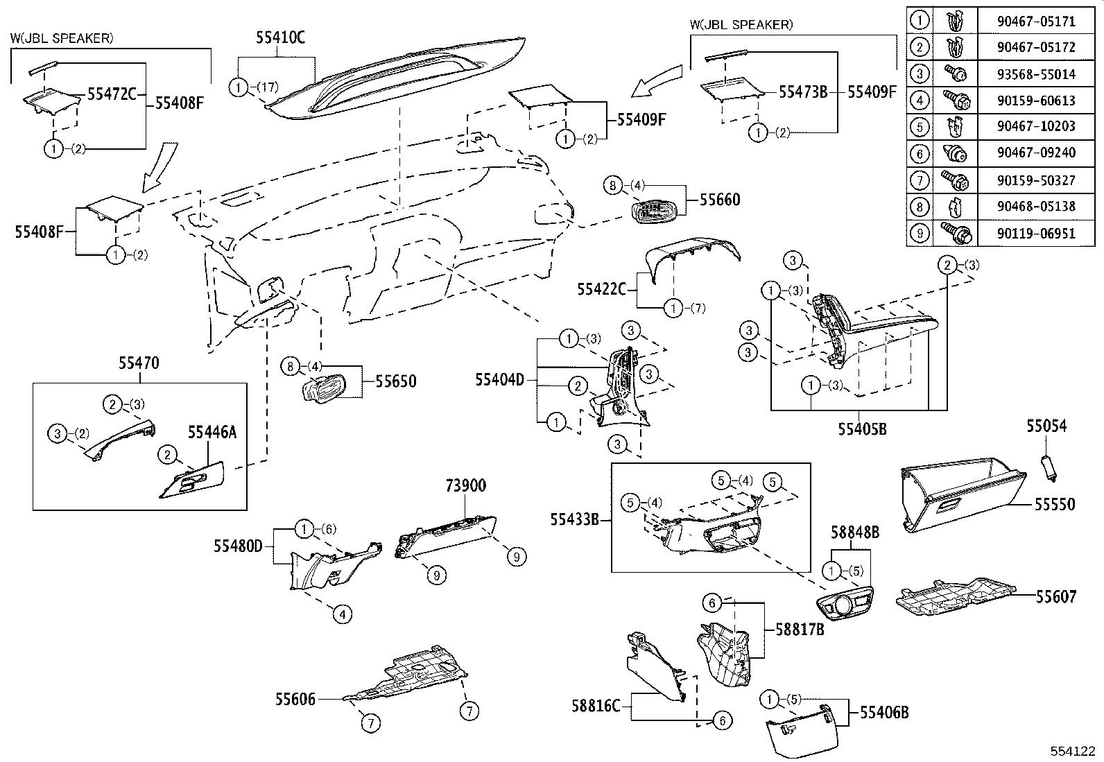 Toyota Prius Instrument Panel Side Cover Front