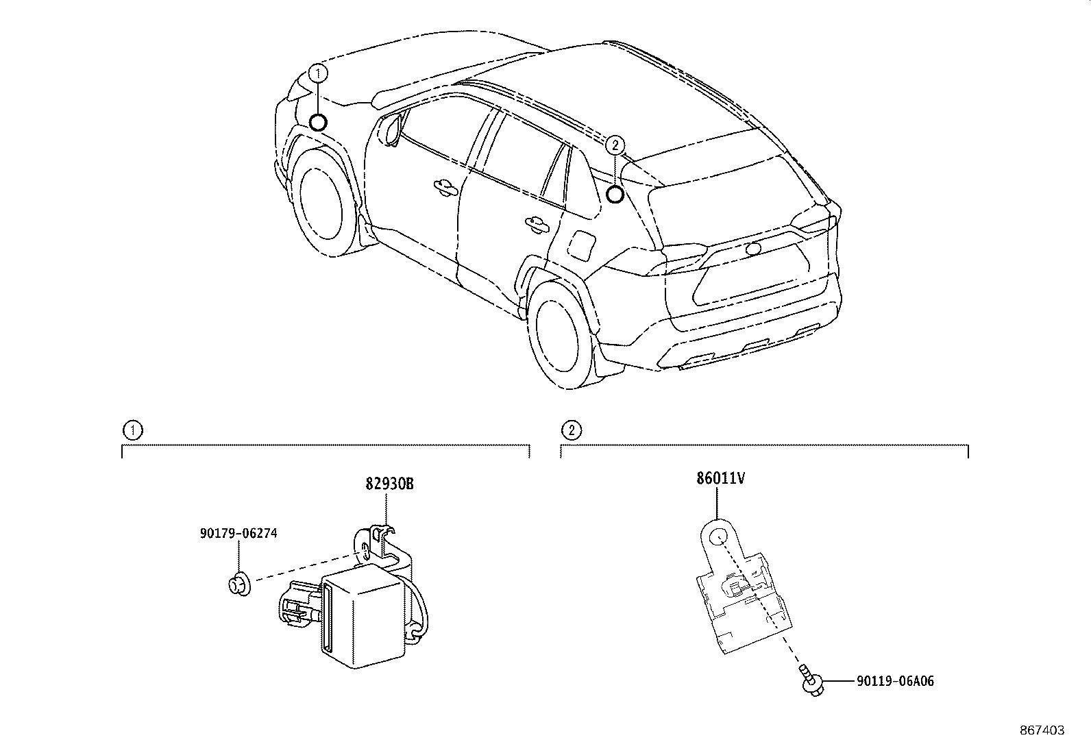 Toyota Rav4 Radio Amplifier Bracket