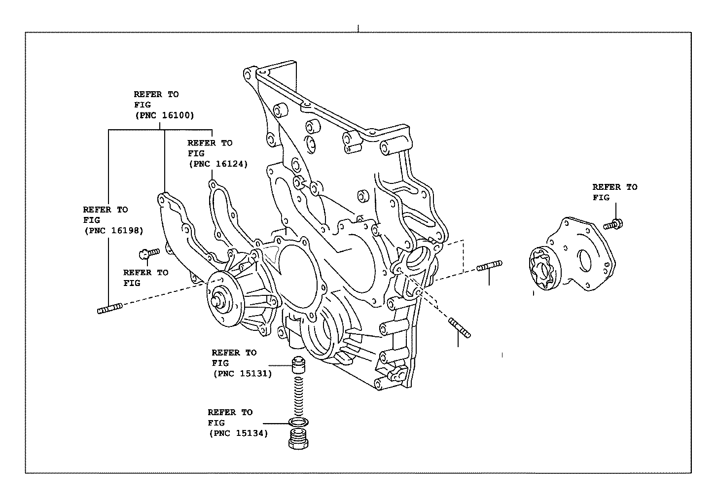 Toyota 4runner Engine Timing Cover