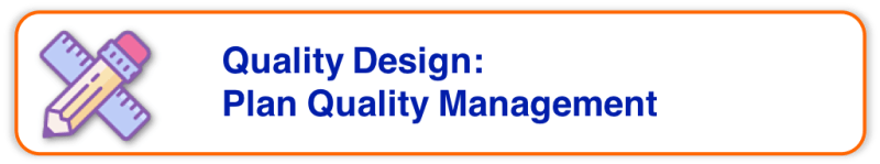 Project Quality Management - Quality Design - Plan Quality Management