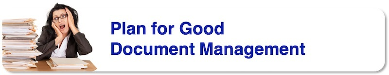 Plan for Good Document Management