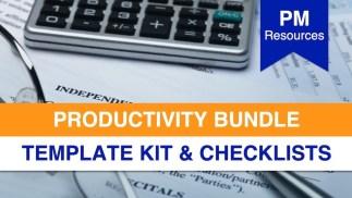 PM Productivity Bundle - Template Kit & Checklists