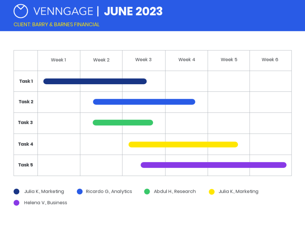 Gantt Chart Template from Venngage