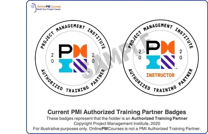 PMI Authorized Training Partner Badges - illustrative