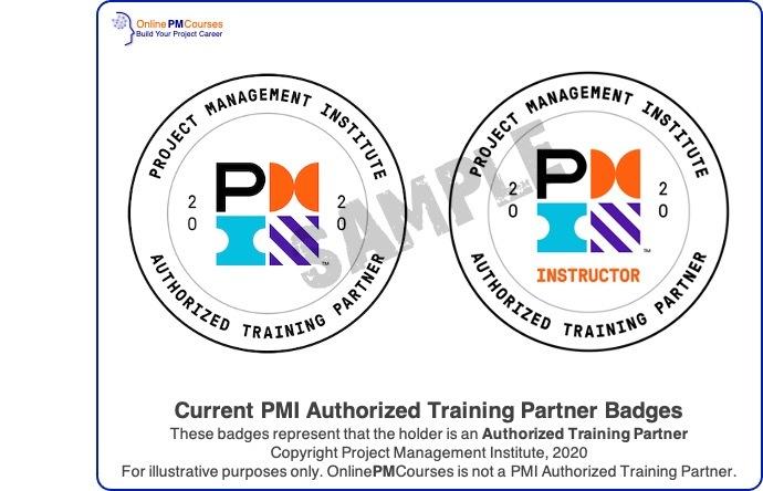 PMI Authorized Training Partner Badges - illustrative