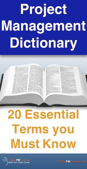 Project Management Dictionary - 20 Essential Terms you Must Know