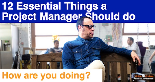 12 Essential Things a Project Manager Should do: How are you doing?