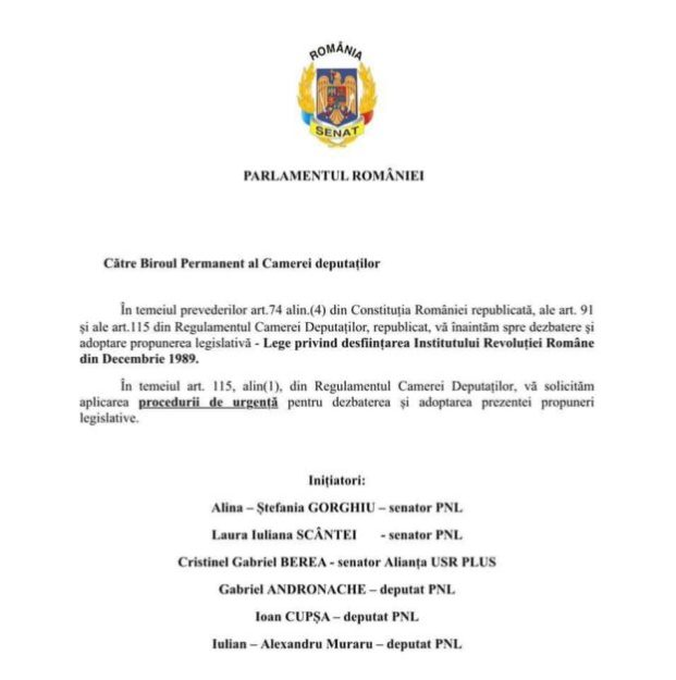 Desființarea Institutului Revoluției Române