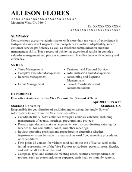 Aafes Executive Administrative Assistant Resume Sample