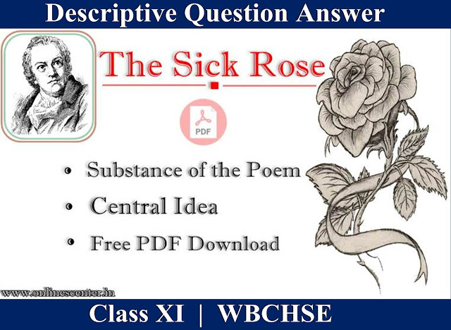 The Sick Rose Questions and Answers | Central Idea | Substance of the poem | Free PDF Download