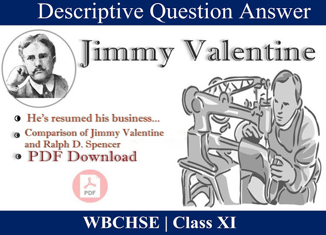 Jimmy Valentine Question and Answer  | Most Important 5 Marks Question and Answer | Free PDF Download