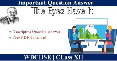 The Eyes Have It Question Answer Class 12 Free PDF Download