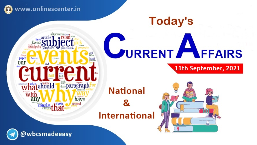 Current Affairs today- 11th September | download free pdf