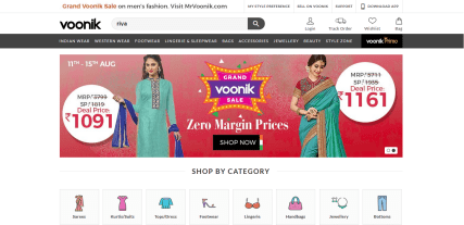 Women clothing and accessories in India