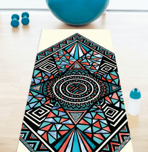3 cute printed yoga mats.