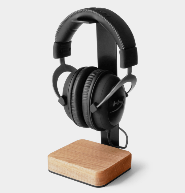 headphone stand wood steel