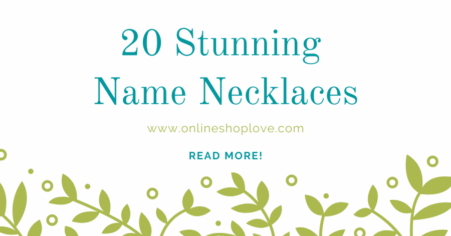 20 personalized and custom name necklaces on Etsy