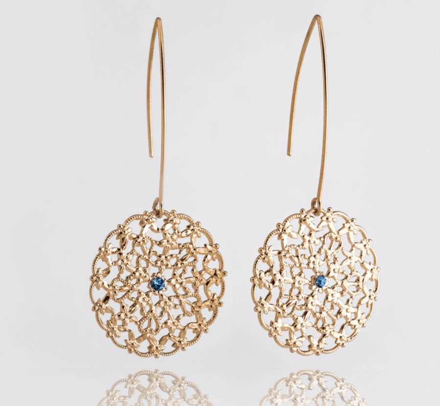 gold dangle earrings gifts for mom