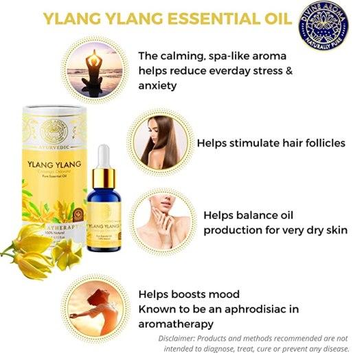 Divine Aroma Ylang-Ylang Essential Oil
