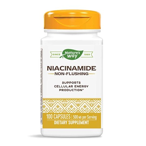 Natures Way Niacinamide 500 mg Capsules