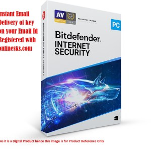 Bitdefender Internet Security 1 PC 3 Year Latest Version ( Instant Email Delivery of Key ) No CD Only Key