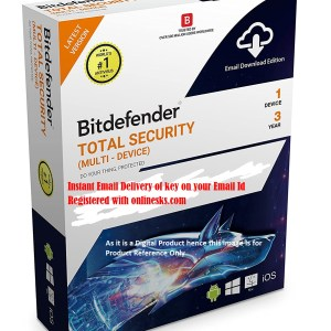 Bitdefender Total Security 1 Device 3 Year Latest Version ( Instant Email Delivery of Key ) No CD Only Key
