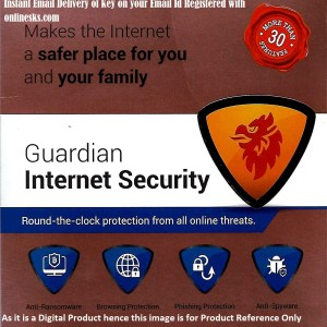 Gardian Internet Security 1 PC 1 Year Latest Version ( Instant Email Delivery of Key ) No CD Only Key