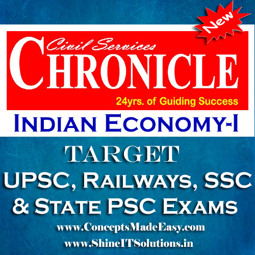 Indian Economy (Part-I) - Chronicle IAS Academy Study Material for UPSC Railways SSC and State PSC Examination (in PDF)