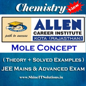 Mole Concept - Chemistry Allen Kota Study Material for JEE Mains and Advanced Examination (in PDF)