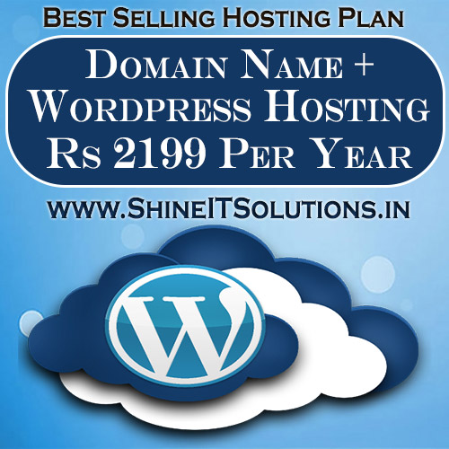 Domain Name + Wordpress Hosting at Rs 2199 Per Year | Best Plan of Shine IT Solutions