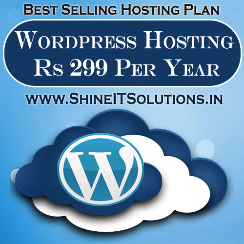 Wordpress Hosting at Rs 299 Per Year | Best Plan of Shine IT Solutions