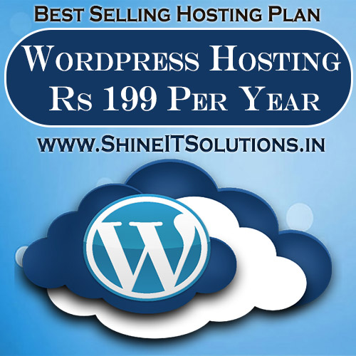 Wordpress Hosting at Rs 199 Per Year | Best Plan of Shine IT Solutions