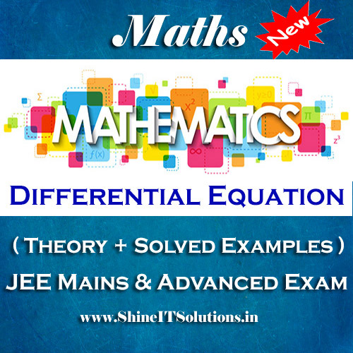 Differential Equation - Mathematics Best Kota Study Material for JEE Mains and Advanced Examination (in PDF)