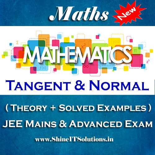 Tangent and Normal - Mathematics Best Kota Study Material for JEE Mains and Advanced Examination (in PDF)