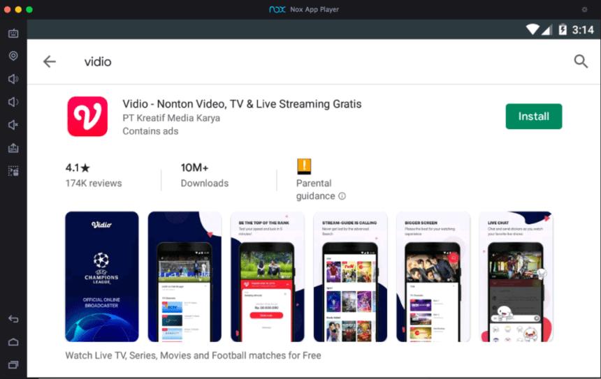 vidio-app-on-pc-using-android-emulator