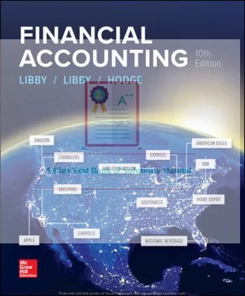 Financial Accounting 10th Edition By Robert Libby and Patricia Libby and Frank Hodge © 2020 Solutions Manual