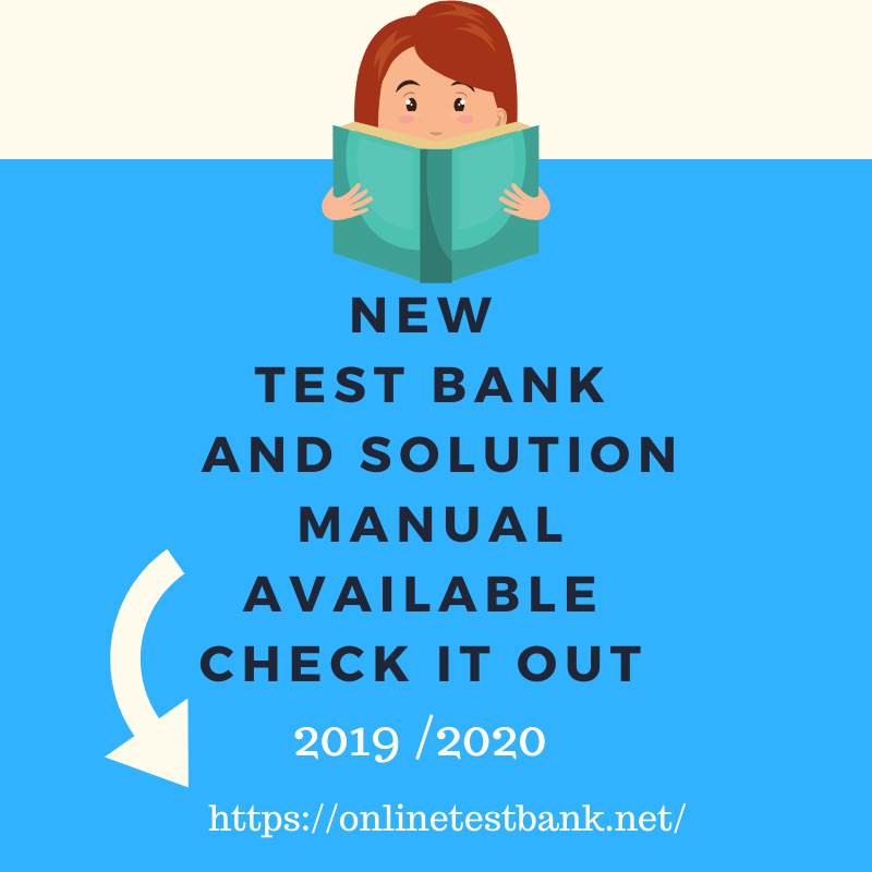 New  Test Banks and Solutions Manual list 2020 – 2021