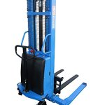 Eoslift-S15J-Powered-Lift-Semi-Electric-Stacker-With-Adjustable-Forks-and-Support-Legs-118-Raised-Height-42-Length-X-83-33-Adjustable-Width-Fork-3300-Lb-Capacity-0