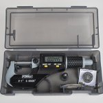 Fowler-Full-Warranty-Xtra-Value-II-Electronic-Micrometer-with-Grey-Enamel-Finish-54-870-001-0-0-10-25mm-Measuring-Range-0000050001mm-Resolution-0000160004mm-Accuracy-RS-232-Output-0-1